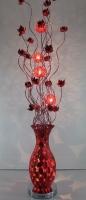 RED LEAF DESIGN FLOOR LAMP