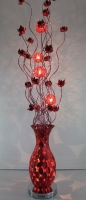 RED LEAF DESIGN FLOOR LAMP